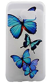materiale TPU opaco bordo blu farfalla eccellente protezione rilievo coperture del telefono effetto per la galassia S7 / s7 bordo