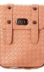 caso bolsa de la carpeta de cuero universal del teléfono celular del bolsillo del bolso de hombro para Samsung para el iPhone para Huawei