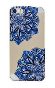 material de TPU diagonal padrão de flor caso de telefone fino para iphone SE / 5s / 5