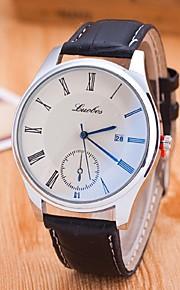 relógio calendário azul retro do casal com quartzo casal de lazer masculino e feminino relógios faixa preta (cores sortidas)