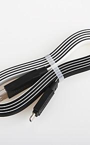 טעינה מהירה כבל כבל 2.0 מטען USB אטריות צבע כפול עבור כבל כללי סמארטפון אנדרואיד סמסונג (1.0 מ ')