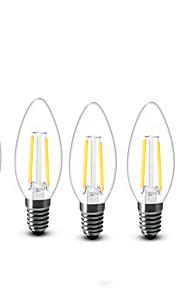 2W E14 LED-lysestakepærer C35 2 COB 200 lm Varm hvit Dekorativ AC 220-240 V 5 stk.