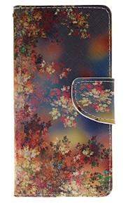 цвет держатель цветок карты бумажник PU кожаный чехол для телефона Huawei P9 / p9lite
