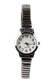 Correia da forma simples meninas de prata relógio de quartzo