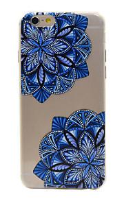 material de TPU padrão de flor telefone diagonal para 6s iphone plus / 6 plus / 6s / 6