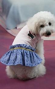 犬用品 ドレス ホワイト 夏 / 春/秋 クラシック / ジーンズ 結婚式 / クリスマス / バレンタインデー / ファッション-Lovoyager
