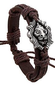 Læder Armbånd 1pc,Brun Armbånd Legering / Læder Smykker Dame / Herre