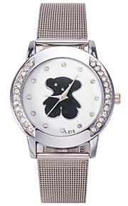 Mulheres Assista Quartz Relógio de Moda Relógio Casual Aço Inoxidável Banda Relógio de Pulso Prata