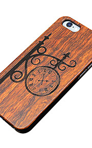 Ultra Thin Wooden Wall Clock Protective Back Cover Hard iPhone PC Case for iPhone 6s Plus/6 Plus/iPhone 6s/iPhone 6