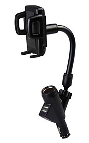 Dual USB Car Charger Mobile Phone Holder Car Cigarette Lighter