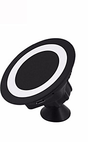 CAR Wireless Charger Pad Facleta 360 Rotating Magnetic Car Stand Fast Charger For IPHONE7,Galaxy S7 EDG