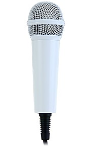 Mini Handheld Wired Condenser Microphone with Single Directivity 3.5mm Plug for UC QQ YY QT IS Cellphones PC Home KTV