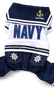 Dog Clothes/Jumpsuit Summer / Spring/Fall Nautical Fashion-Lovoyager