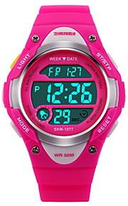 Infantil Assista Digital Relógio Esportivo LCD / Calendário / Cronógrafo / Impermeável / alarme / Luminoso / Cronômetro Borracha Banda