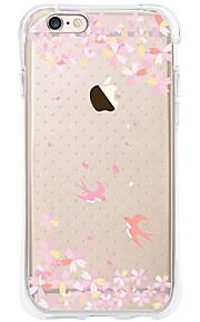 kakashi bloempatroon TPU schilderij airbag Hoogte- zachte hoes voor de iPhone 6s / 6 / 6s plus / 6 plus (slikken en bloem)