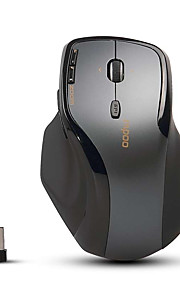 Orginal Rapoo 7600+ 2.4GHz Wireless Optical Gaming Mouse for Big Hands PC/Computer Business Style Dark Gray