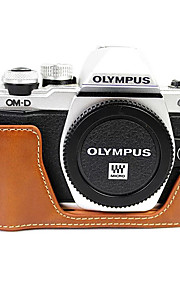 SLR-Taske-Olympus-Brun