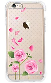 kakashi bloempatroon TPU schilderij airbag Hoogte- zachte hoes voor de iPhone 6s / 6 / 6s plus / 6 plus (roze roos)