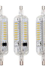5W R7S LED-kornpærer T 76 SMD 4014 800 lm Varm hvit / Kjølig hvit Dekorativ / Vanntett AC 220-240 V 3 stk.