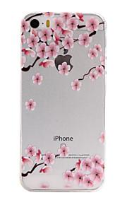 materiais TPU flores cor de rosa para cima e para baixo padrão de caixa do telefone fino para iphone SE / 5s / 5