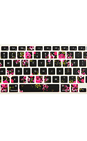 Peony Flower Design Silicone Keyboard Cover Skin for Macbook Air 13.3/Macbook Pro 13.3 15.4,US version