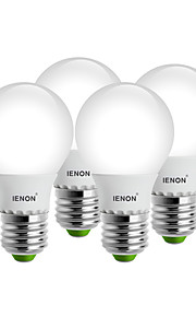 5W E26/E27 LED-globepærer G60 8 SMD 400-450 lm Varm hvit / Kjølig hvit Dekorativ AC 100-240 V 4 stk.