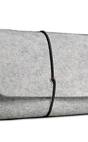 lille filt digital lagring taske til laptop accesseries / mus / øretelefon / kabel lysegrå