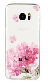 Takakuori Tekojalokivi / Bisque Kukka TPU Pehmeä Tapauksessa kattaa Samsung Galaxy S7 edge / S7