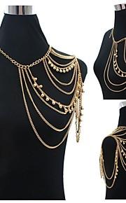 Kropskæde Akryl / Guldbelagt Moderigtig Gylden Smykker,1pc