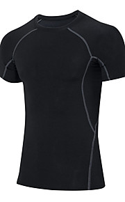 Hardlopen Sweatshirt / T-shirt Heren Korte Mouw Ademend / Sneldrogend / Compressie / Zweetafvoerend / Stretch Fitness / Hardlopen Sportief