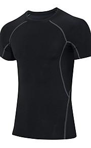 Course Shirt / Tee-shirt Homme Manches courtes Respirable / Séchage rapide / Compression / Anti-transpiration / Elastique Fitness / Course