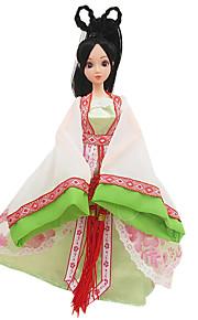 kostume dukke tøj kjole pige grøn gammel kinesisk tøj (uden baby)