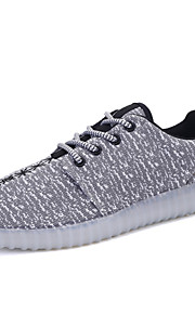 Zapatos de mujer-Tacón Plano-Punta Redonda / Confort-Bailarinas-Exterior / Casual / Deporte-PU-Azul / Negro / Rojo / Gris
