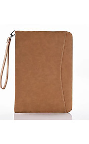 Ultra-thin Vintage PU Holster Wake Function Can Card Wallet Stent with Hanging Rope for Apple Ipad Air2/2(Multicolor)