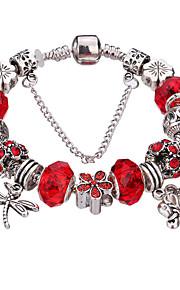 Charm-armbånd / Bangles / Strand Armbånd / Silver Bracelets 1pc,Sølv / Hvid / Rød / Blå / Grøn Armbånd Holdbar / Moderigtig / Yndig