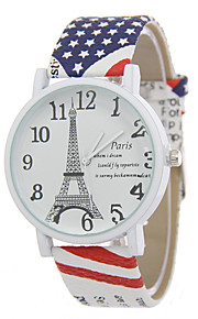 לנשים שעוני אופנה קווארץ שעונים יום יומיים עור להקה מזל צבעוני מותג