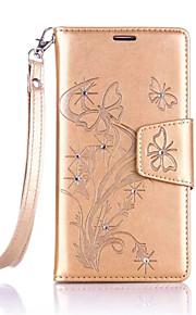 Cuerpo Completo billetera / con el soporte Flor Cuero Sintético Duro Dandelions    Diamond Cubierta del caso para Other One Plus 3