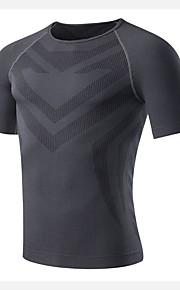Course Shirt / Tee-shirt / Costume de compression/Sous maillot Homme Manches courtesRespirable / Séchage rapide / Compression /