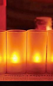 4 kpl ääni anturi johti kynttilän valossa yövalo