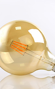 8W E26/E27 LED-glødepærer G125 8 Høyeffekts-LED 650lm lm Varm hvit Dekorativ AC 220-240 V 1 stk.