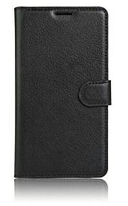 Hel kropp plånbok / med stativ / Flip Solid Färg TPU Mjuk Wallet type bracket / flip / mobile phone shell Fallet täcker för Samsung Galaxy