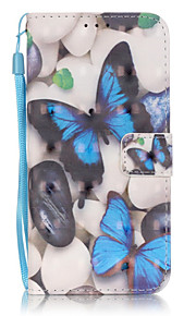 Blue Butterfly 3D Painted Patterns PU Leather Case Cover For Samsung GalaxyS7 edge/S7/S6 edge plus/S6 edge/S6/S5/S4