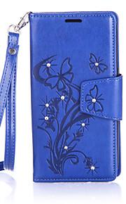 Ganzkörper Brieftasche / Kartenhalter / Stoßfest / Staubdicht / Strass / mit Ständer Baum PU - Leder HartCard Holder Wallet Shockproof