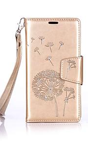 Cuerpo Completo Soporte de Tarjeta / Brillante / Dar la vuelta Flor Cuero Sintético Suave Diamonds+Lanyard+High-Grade LeatherCubierta del