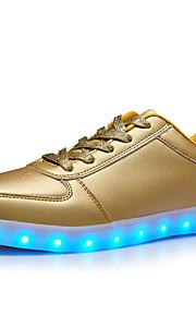 Zapatos de Hombre-Bailarinas-Exterior / Casual-Semicuero-Plata / Oro