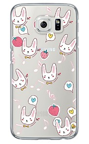 Cute Rabbits Pattern Soft Ultra-thin TPU Back Cover For Samsung GalaxyS7 edge/S7/S6 edge/S6 edge plus/S6/S5/S4