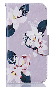 Flowers Pattern Card Phone Holster for iPhone 5/5S/SE/6/6S/6 Plus/6S Plus