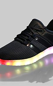 Zapatos de Hombre-Zapatillas de deporte-Exterior / Casual / Deporte-Tul-Negro / Azul / Blanco / Gris / Naranja