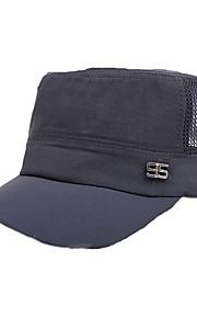 Bonnet Unisexe Résistance aux UV / Respirable Head Baseball / Sport de détente Gris clair / Noir Coton Printemps / Eté / Automne / Hiver