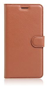 풀 바디 지갑 / 스탠드 / 튀기다 한색상 인조 가죽 하드 Ultra-thin  Wallet with Stand Flip Solid Color 케이스 커버를 들어 OtherAsus ZenFone GO ZC451TG / Asus ZenFone GO